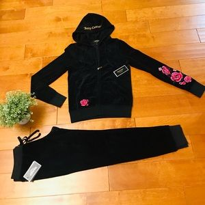 Juicy Couture embroidered floral hoodie &zuma pant